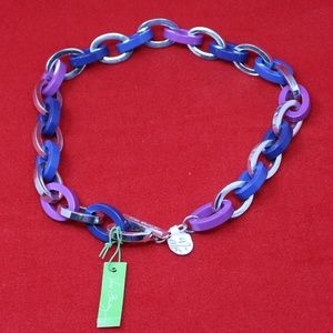 Vera Bradley Chunky Link Necklace - African Violet